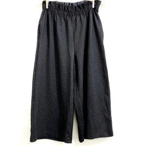 ZARA Pinstripe Wide Leg High Waist Culotte Trouser